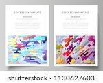 business templates for brochure ... | Shutterstock .eps vector #1130627603