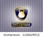 golden emblem or badge with... | Shutterstock .eps vector #1130629013