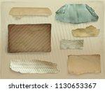 paper scraps vector...   Shutterstock .eps vector #1130653367