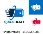 quick ticket logo template...   Shutterstock .eps vector #1130664683