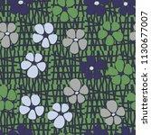 seamless pattern. flowers... | Shutterstock .eps vector #1130677007