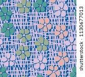 seamless pattern. flowers... | Shutterstock .eps vector #1130677013
