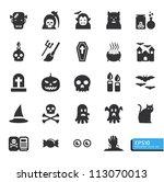 halloween icon set vector | Shutterstock .eps vector #113070013