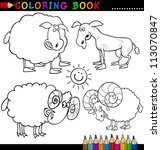 coloring book or page cartoon... | Shutterstock . vector #113070847