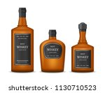 realistic detailed 3d whiskey...   Shutterstock .eps vector #1130710523