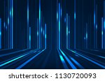 abstract blue lines on dark... | Shutterstock . vector #1130720093