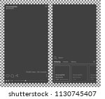 video frame templates inspired... | Shutterstock .eps vector #1130745407