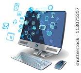 computer networks | Shutterstock .eps vector #113075257