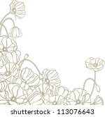 floral background with hand... | Shutterstock .eps vector #113076643