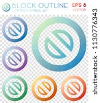 block outline geometric... | Shutterstock .eps vector #1130776343