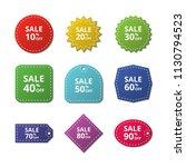 discount stickers. special... | Shutterstock .eps vector #1130794523