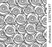 seamless pattern with black and ... | Shutterstock .eps vector #1130796197