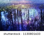 birch trees reflected in the... | Shutterstock . vector #1130801633