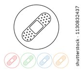 bandaid icon in a modern thin... | Shutterstock .eps vector #1130832437