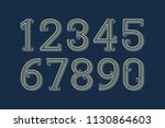 fancy vector numbers in... | Shutterstock .eps vector #1130864603