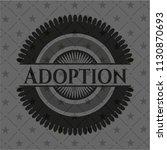 adoption dark emblem. retro | Shutterstock .eps vector #1130870693