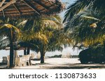 warm sunny resort with... | Shutterstock . vector #1130873633