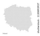 dotted map of poland. vector... | Shutterstock .eps vector #1130893937