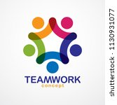 teamwork businessman unity and...   Shutterstock .eps vector #1130931077