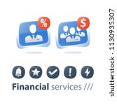 corporate service  mutual fund... | Shutterstock .eps vector #1130935307