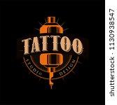 tattoo studio design  retro... | Shutterstock .eps vector #1130938547