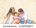 young parents cute laughing... | Shutterstock . vector #1130958827