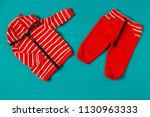 baby clothes. flat lay. concept ... | Shutterstock . vector #1130963333