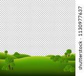 green landscape isolated white... | Shutterstock .eps vector #1130977637