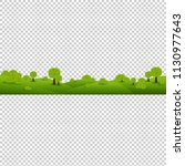 green nature landscape isolated ... | Shutterstock .eps vector #1130977643