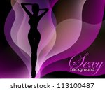 sexy woman silhouette  fashion... | Shutterstock .eps vector #113100487