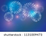 brightly colorful fireworks... | Shutterstock .eps vector #1131009473