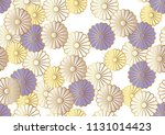 seamless chrysanthemum pattern... | Shutterstock .eps vector #1131014423