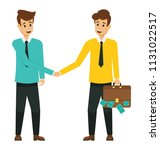 profitable partnership ... | Shutterstock .eps vector #1131022517