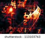 interplay of numbers and... | Shutterstock . vector #113103763