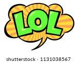 bright vector lol speech bubble....   Shutterstock .eps vector #1131038567