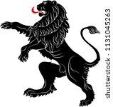 the rebels lion   the heraldic... | Shutterstock .eps vector #1131045263