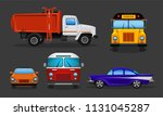vector set of cartoon cars  ... | Shutterstock .eps vector #1131045287