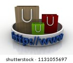 3d rendering e shopping concept ...   Shutterstock . vector #1131055697
