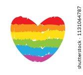 lgbt rainbow drawing heart on... | Shutterstock .eps vector #1131064787