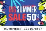 summer sale banner design...   Shutterstock .eps vector #1131078587