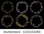 set of circle frames on a black ...   Shutterstock .eps vector #1131102383