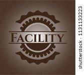 facility retro wooden emblem   Shutterstock .eps vector #1131133223
