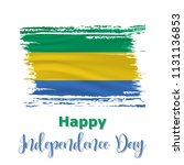 17 august  gabon independence... | Shutterstock .eps vector #1131136853