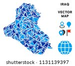 iraq map collage of blue... | Shutterstock .eps vector #1131139397