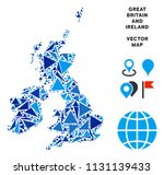 great britain and ireland map... | Shutterstock .eps vector #1131139433