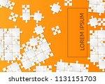 orange background puzzle....   Shutterstock .eps vector #1131151703