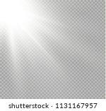 vector transparent sunlight... | Shutterstock .eps vector #1131167957