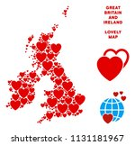 valentine great britain and... | Shutterstock .eps vector #1131181967