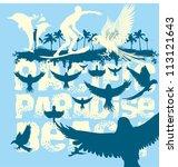paradise beach | Shutterstock .eps vector #113121643