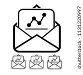 email and mail icon vector | Shutterstock .eps vector #1131220997